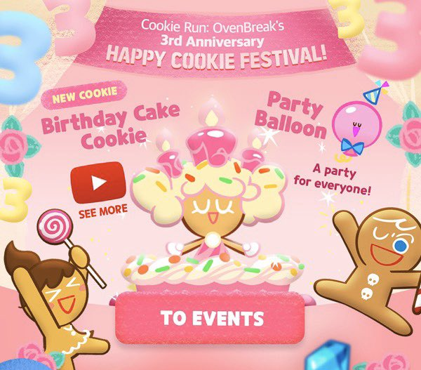 Groovy Cookie Run Updates On Twitter Ovenbreak Celebrate The 3Rd Funny Birthday Cards Online Overcheapnameinfo