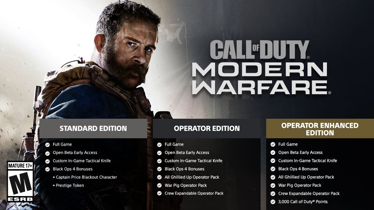 There are few different Call of Duty #ModernWarfare editions to choose from on PS4. Here's a quick break down of each:http://bit.ly/2N8IAjb