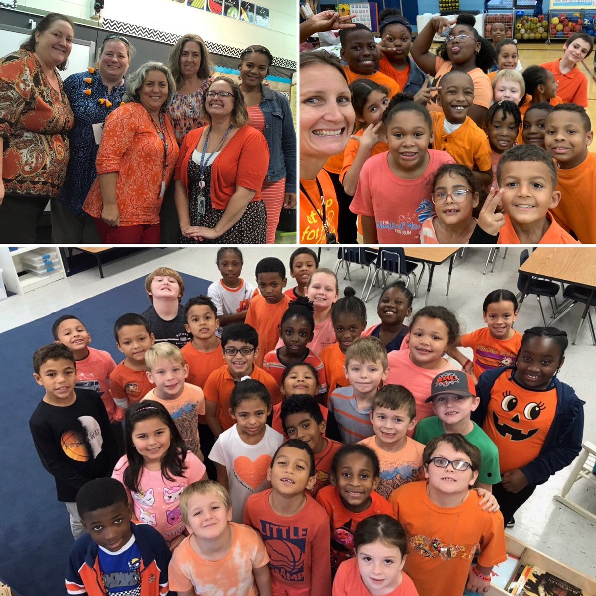 To celebrate Unity Day Saunders' Spartans wore orange to show that together we are united for kindness, acceptance, and tolerance! #unityday2019 #Spartanheroheartwork #kindnessmatters #beafriendnotabully #NNPSproudpic.twitter.com/uCXc64E2Nd