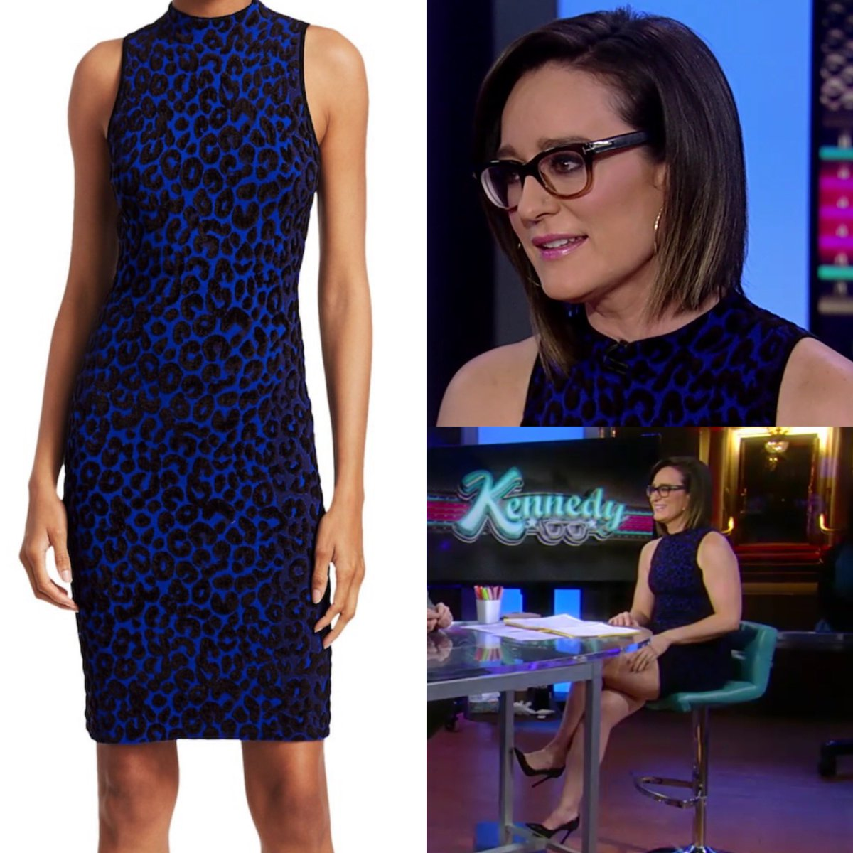 Kennedy (@KennedyNation) appears to have worn a Milly Blue Cheetah Bodycon dress tonight on #Kennedy - the dress is available at Saks.  #foxnews #foxnewsfashion #foxbusiness  https://www.instagram.com/p/B3-3X3IAkck/?igshid=rkbetl3mhhek …pic.twitter.com/U2nzf25Wmv