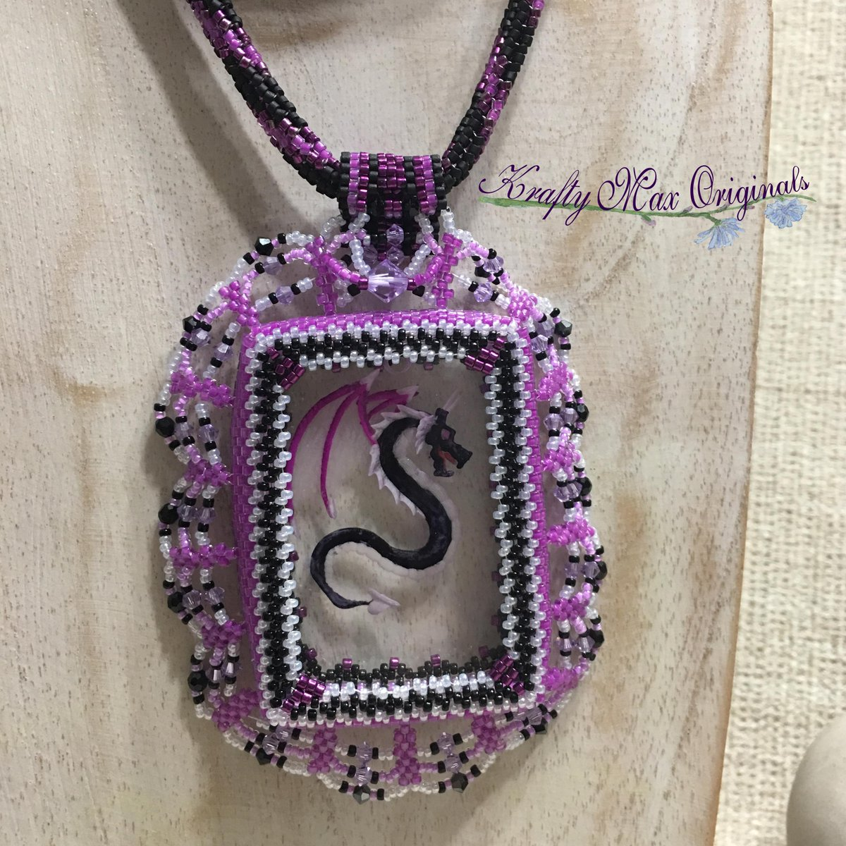 Dragon of the Ashen Moon Beadwoven Wearable Art Necklace Set (discounted from $147 down to $70)  #handmade #jewelry #buyhandmade #handmadelove #handcrafted #kraftymax #kmax #discount #sale #bargain #save #clearance