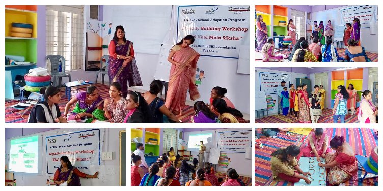 Srf Foundation On Twitter Building Capacities In Our Shala Mitras On Khel Khel Mein Shiksha To Understand Implement Present Through Two Day Workshop Under Indigo6e School Adoption Program In Vadodara Gujarat
