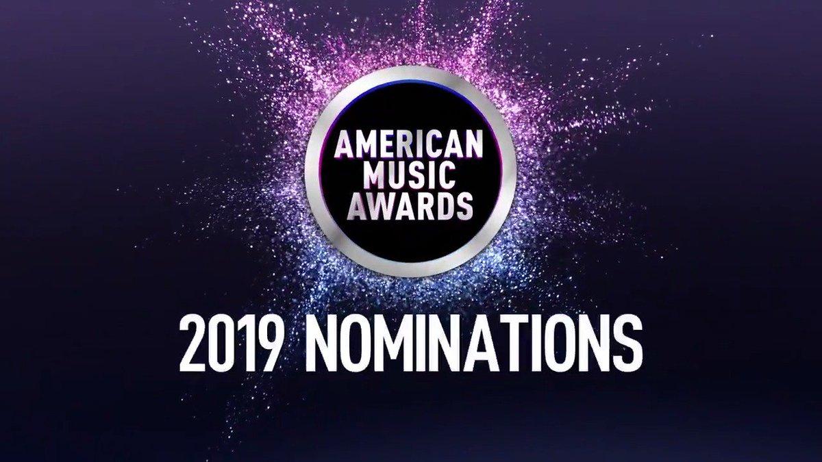 Congratulations to the 2019 @AMAs nominees! #AMAs Full list: theamas.com ✨