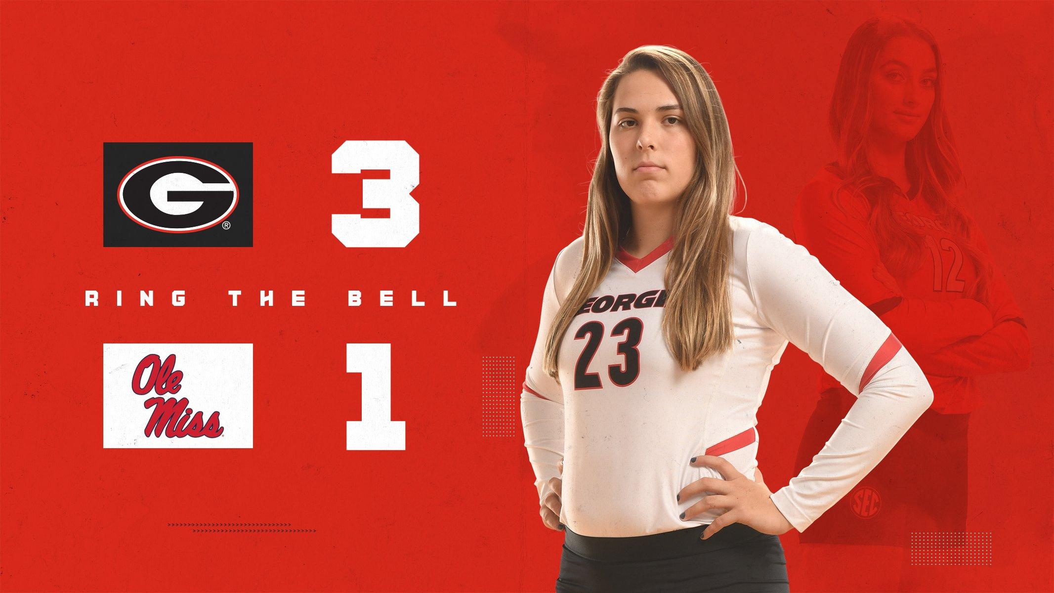 Photo: Georgia Volleyball - Kacie Evans (23) - University of Georgia Athletics