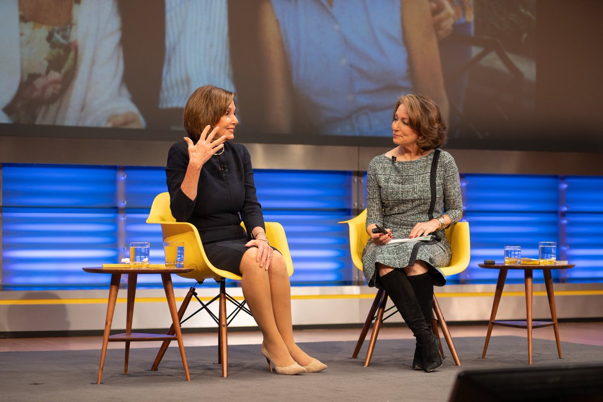 Many thanks to ⁦@SpeakerPelosi⁩, who is having a complicated week, personally and professionally. Despite all that, she came to @NatGeo tonight to support an event she believed in: Telling the story of the global empowerment of women. We are grateful. #natgeowomenofimpact