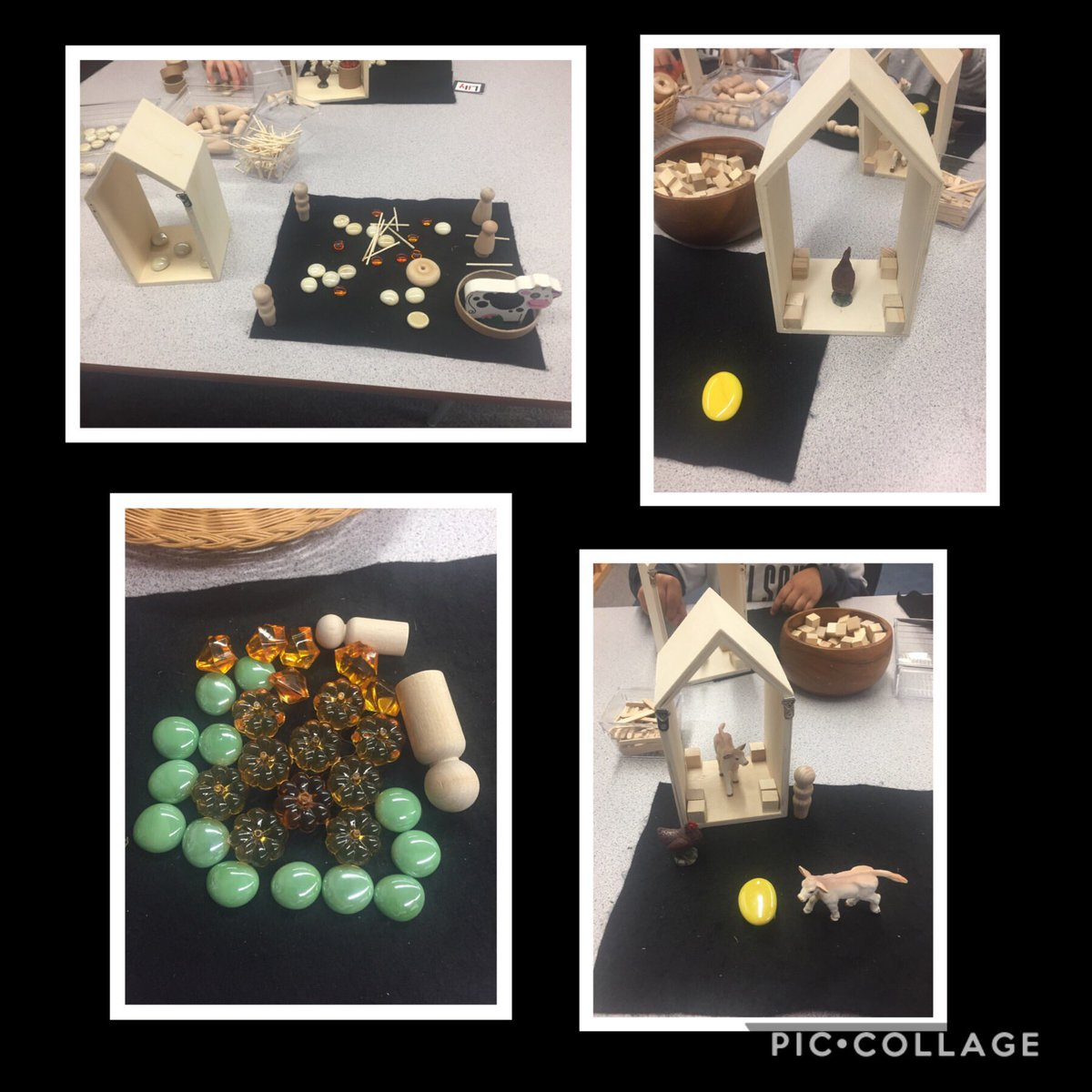 After a VERY soggy field trip to the pumpkin patch - we used loose parts to build the thing they liked the best. Friends either chose pumpkin picking or seeing the animals #westhamislandherbfarm https://t.co/tBvuhaxkPo