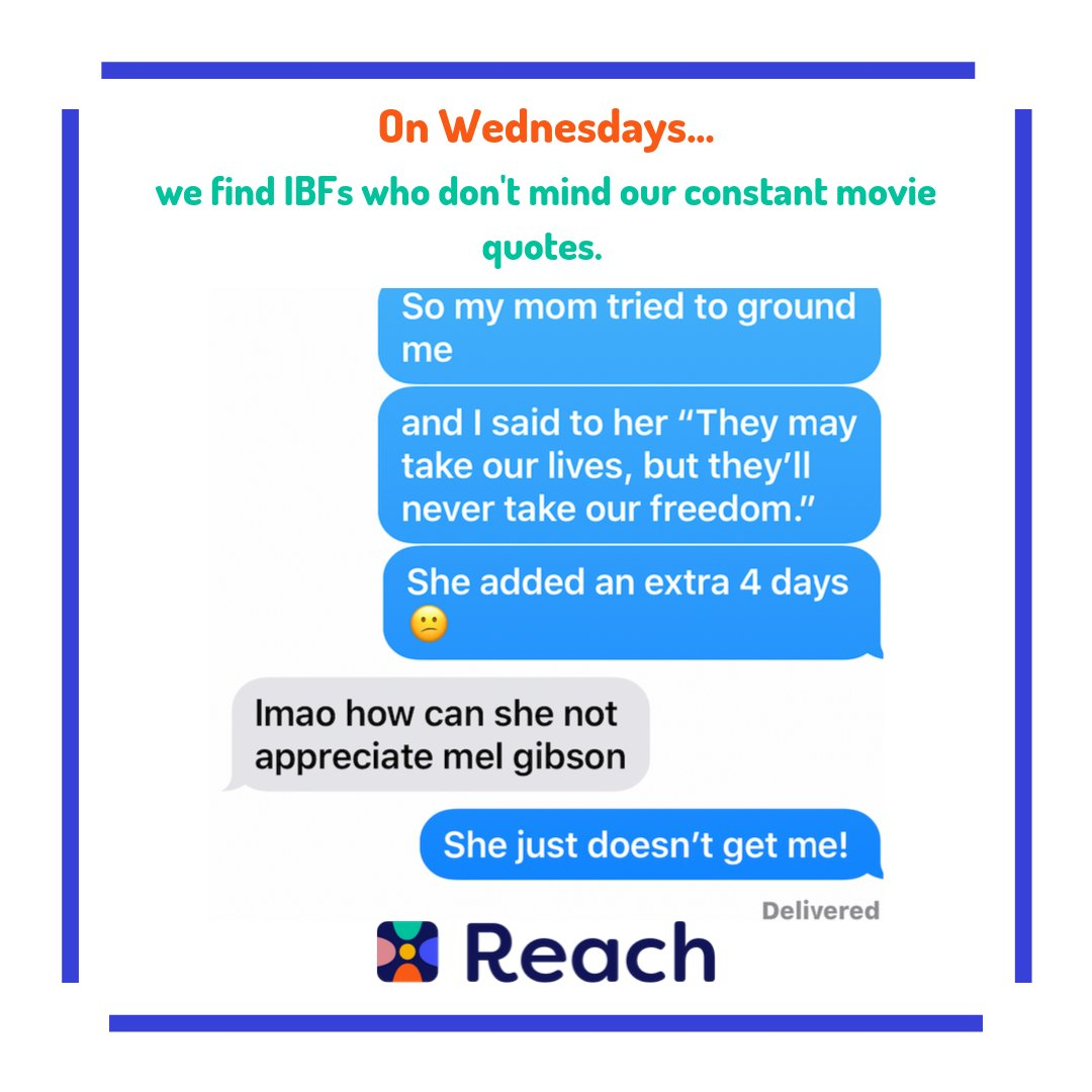 When your mom doesn't get you, find an IBF who will #Reach #IBF #ReachYourIBFs #IBFgoals #InternetBestFriendspic.twitter.com/82DrBEwekf