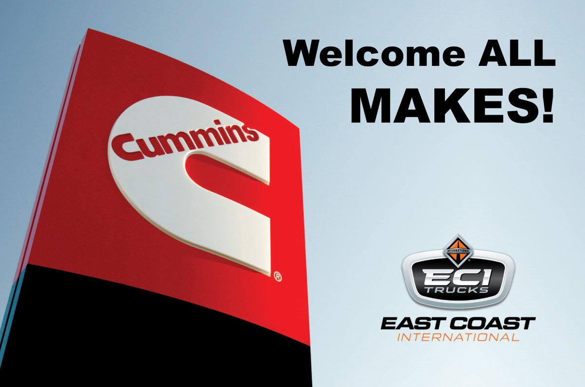 Welcome ALL-MAKES! All 4 of our locations are warranty certified Cummins dealers with trained technicians to help you get back on the road quickly. Book your appointment today! http://www.eastcoastint.com  1-800-561-7030 #CumminsDealer #TrainedTechnicians #BookToday #CumminsEnginespic.twitter.com/7qdkFlKNMH