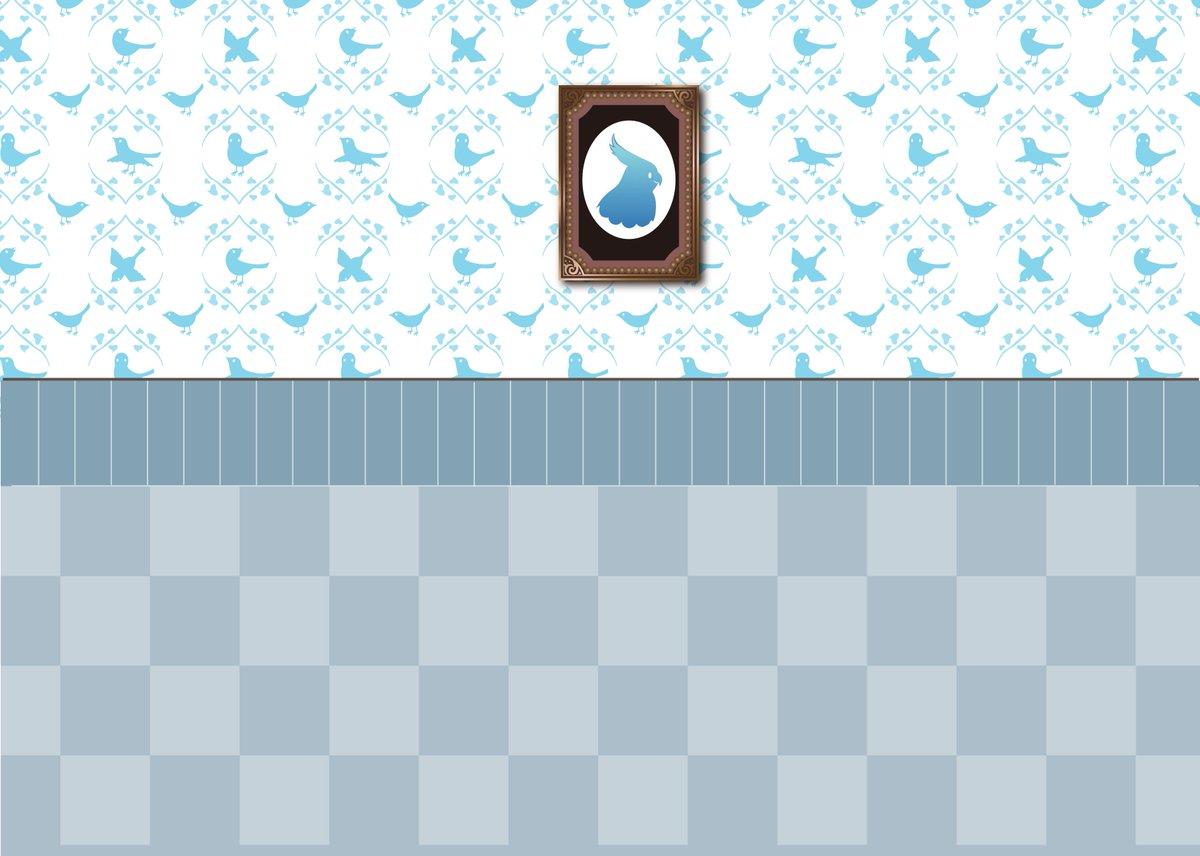 執事ロボットおたすけ タピ太 公式 ちょっと壁紙を作り直しました これをa4で印刷して 市松模様のところで折ると フィギュアやアクキー ドール用の背景になるかも 使いたい人 どうぞ 小さめの子用です ヤギちゃんで7 5cmでした
