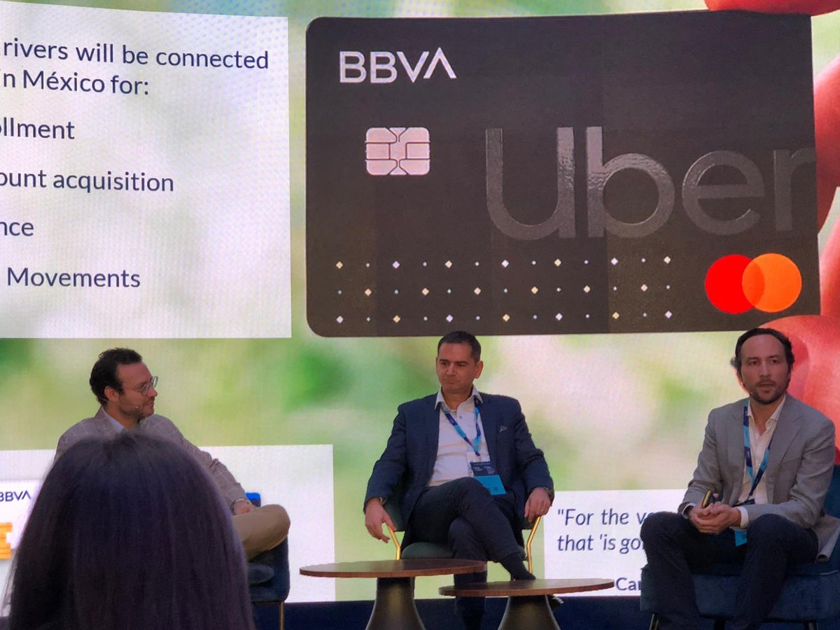 @bbva in collaboration with @Uber_MEX tapping the power of #openbanking to improve user experience - launch product in Mexico together At #BBVAOpenSummit #Effectivecollaboration @Xbond49 @ashkukreti @Capgemini_Bnkg @oliv_jamault @davidjmaireles @ColinPayne @SeddikJamai