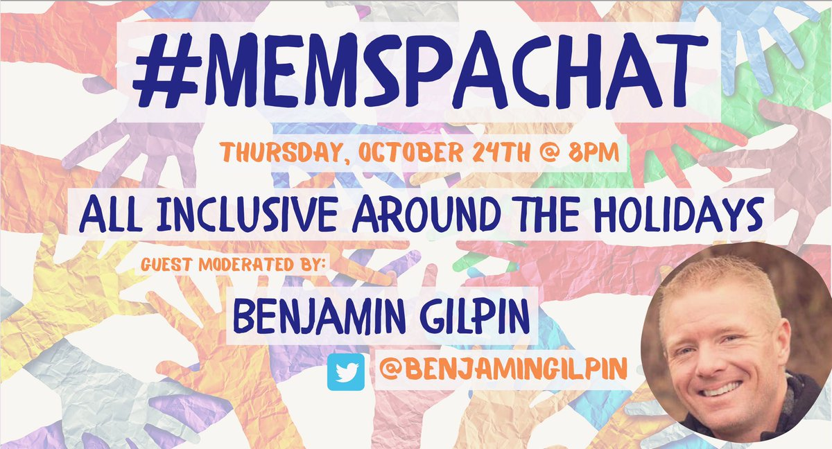 Tonight's #MEMSPAchat - Be there at 8pm (EST) with guest moderator @benjamingilpin