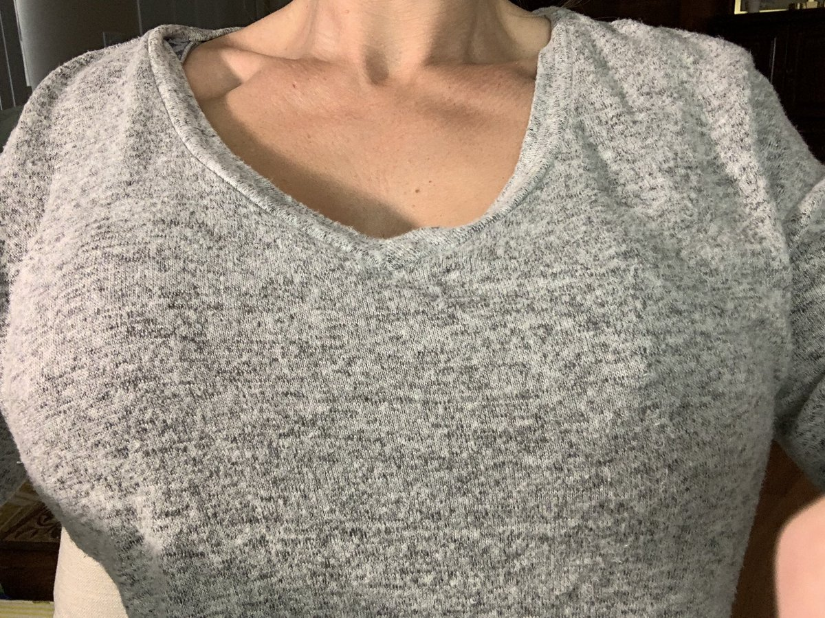 Okay, Y'all...the struggle is real! LOL! When you have #boobies, it's not just when you wake up in a tank top that they're all eschew. This is what you wake from a nap to...looks normal, feels off...and when you check, they've tried to escape. Happy Thursday! XO