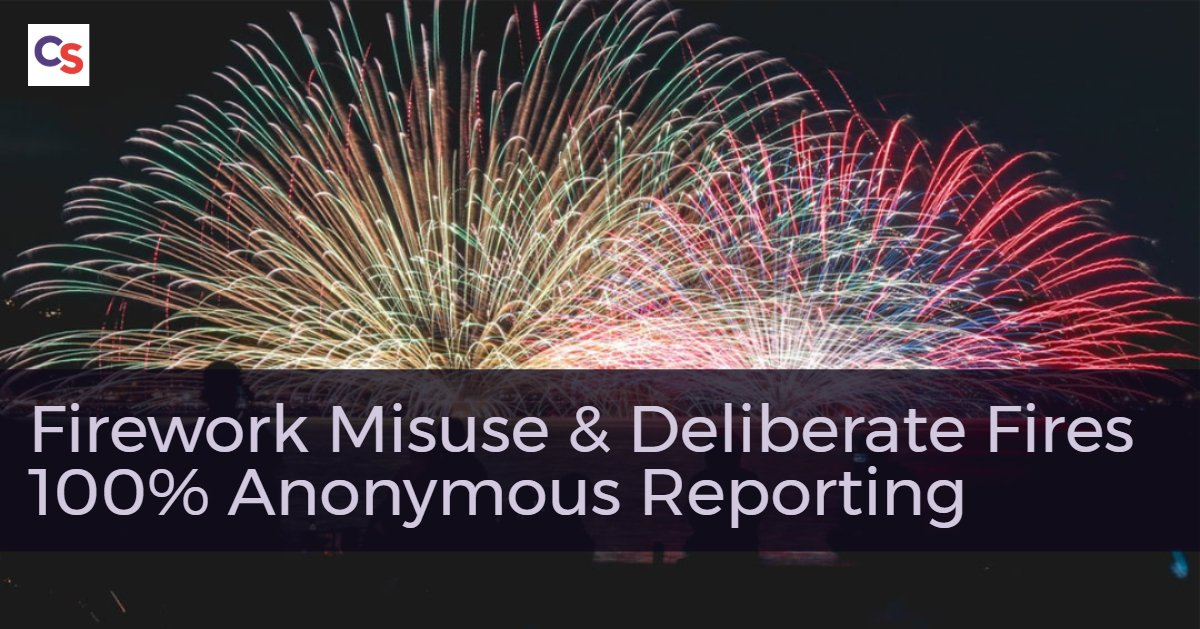 Firework misuse is having a massive impact on communities in #Scotland with some areas experiencing ongoing anti-social behaviour linked to fireworks. If you know whos responsible call us completely anonymously on 0800 555 111 or go online here bit.ly/30QzoEX