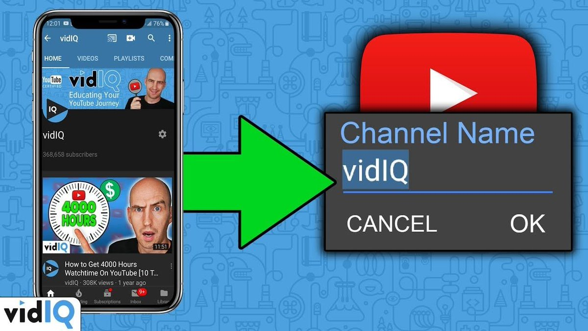 how to change name on youtube