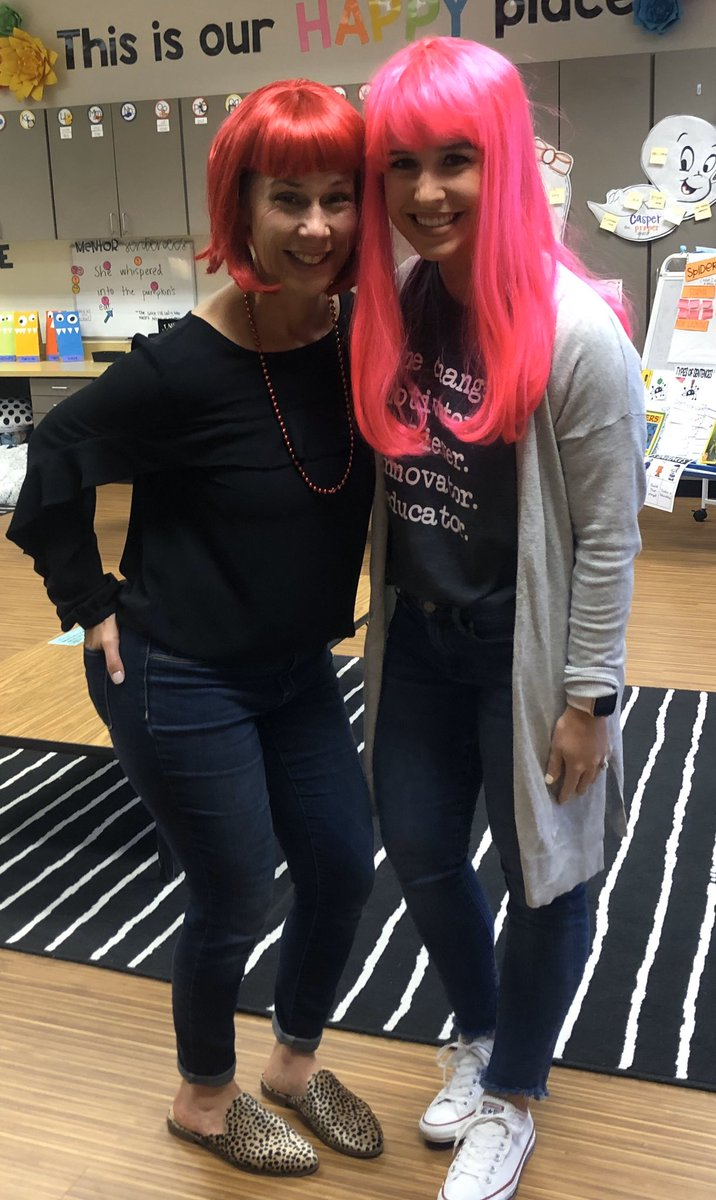Crazy Hair Day @CBEBears with my most favorite girl @mccallelong ❤️#risdace #risdsaysomething #redribbonweek
