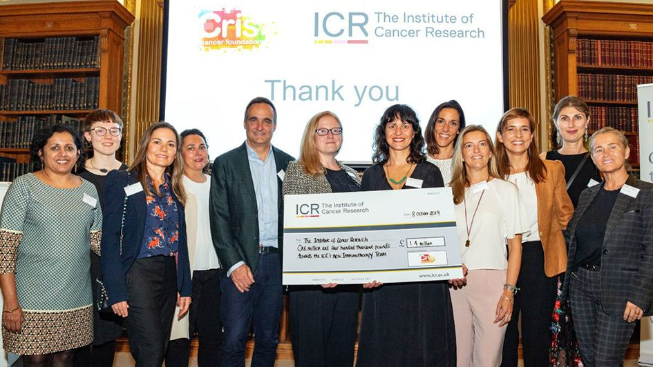 At our recent Discovery Club event, members thanked @CRISCANCERUK for their wonderful donation of £1.4 million to support immunotherapy research at the ICR buff.ly/2qERT2R