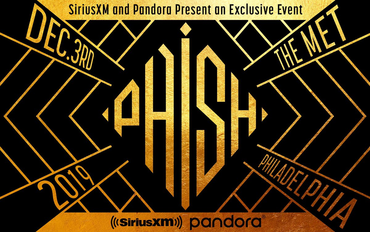 Phish will perform an exclusive concert for listeners of their SiriusXM channel, Phish Radio, on Tuesday, December 3 at The Met in Philadelphia, PA. SiriusXM subscribers will have numerous opportunities to win a pair of tickets to this show: http://SiriusXM.com/Phish