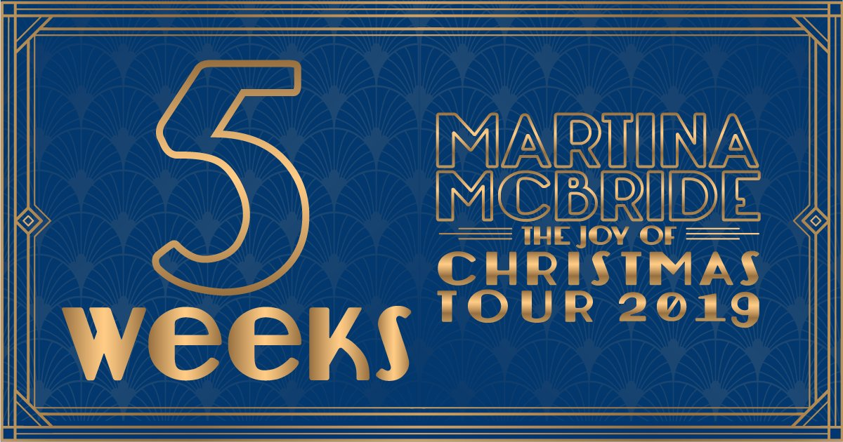 The countdown is on!! 5 more weeks until we kick off my #JoyOfChristmasTour! ⏳Make sure you grab your tickets. martinamcbride.com/tour