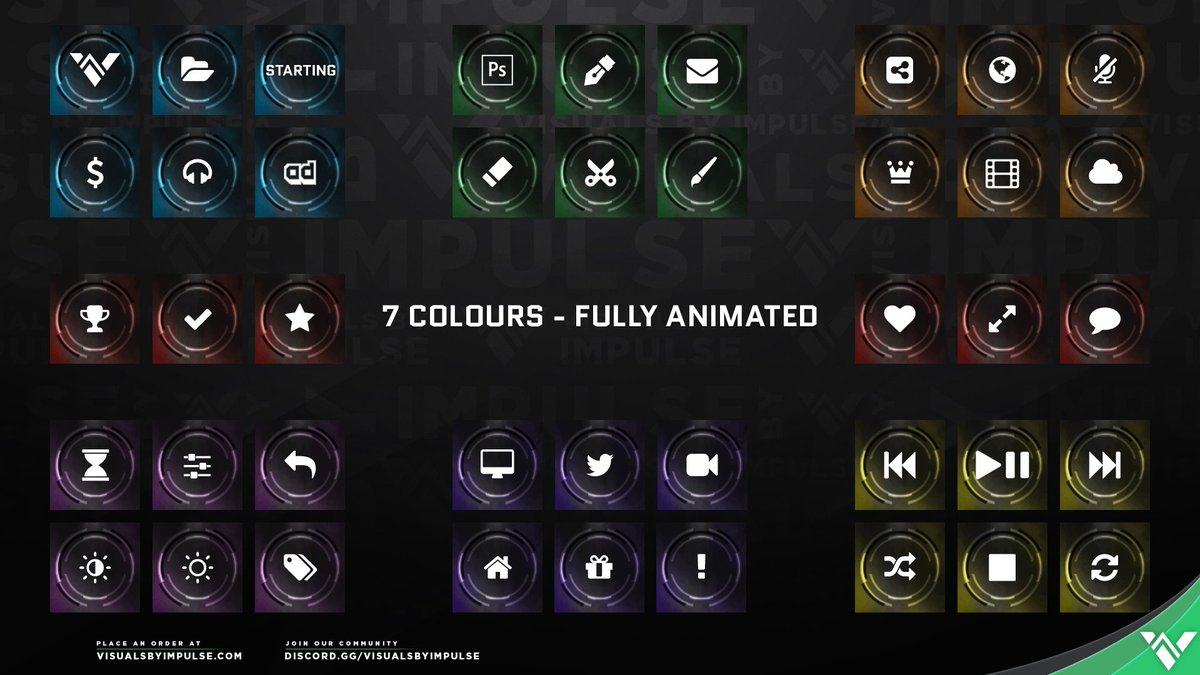 Visuals By Impulse On Twitter Check Out These New Elgatogaming Stream Deck Icons 1400 Unique Icons 200 Variations 7 Color Schemes All Animated Introducing The Champion Stream Deck Icons Https T Co 7ptzjcvo56