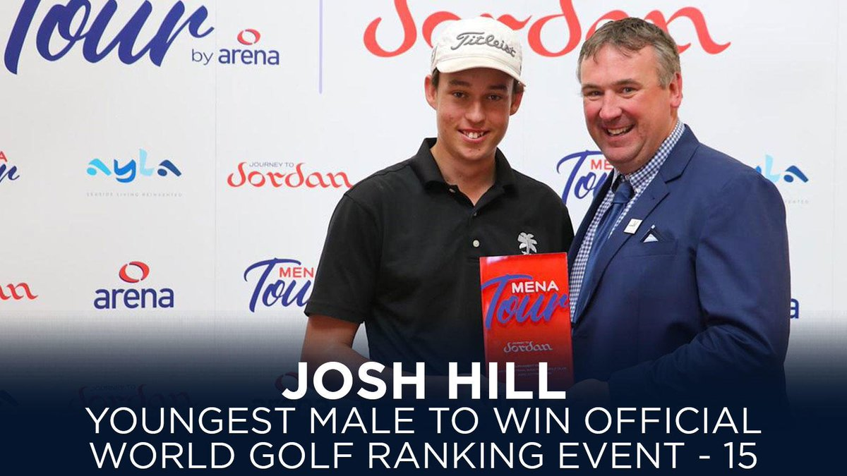 🏆 History-maker Josh Hill ⛳️ At the age of 15 years, six months and 27 days old, Hill becomes the youngest male player to win an Official World Golf Ranking event - the Al Ain Open 😱 I really dont know what to say right now. I am shocked, 📸 @theMENATour