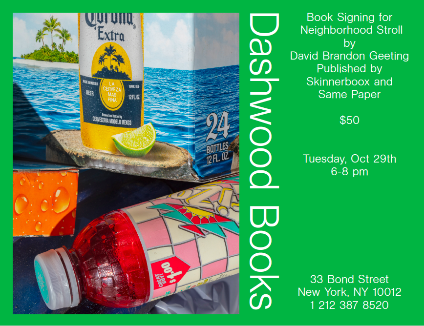 Please join us on Tuesday October 29th from 6-8 pm for a book signing with David Brandon Geeting.