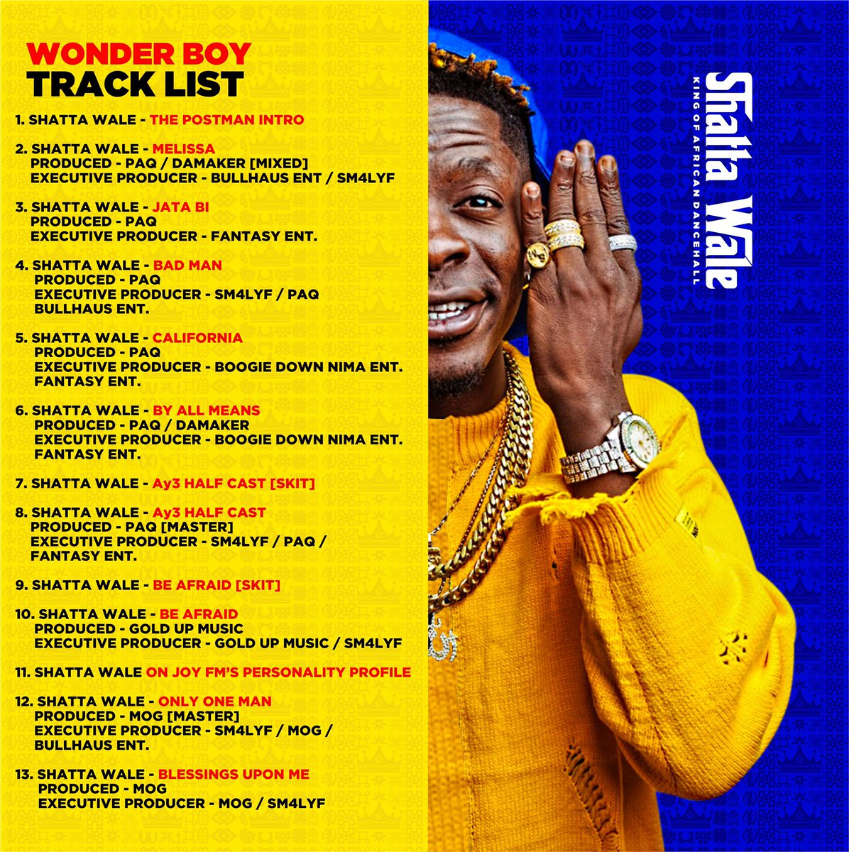 I love the feedback from the #WonderBoyAlbum  Thank you Lord first then to my loyal fans 🙏🏽🔥🔥🔥 https://t.co/lRdAN2L9A6