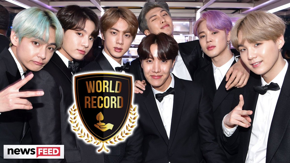 Another day, another world record for @Bts_twt
