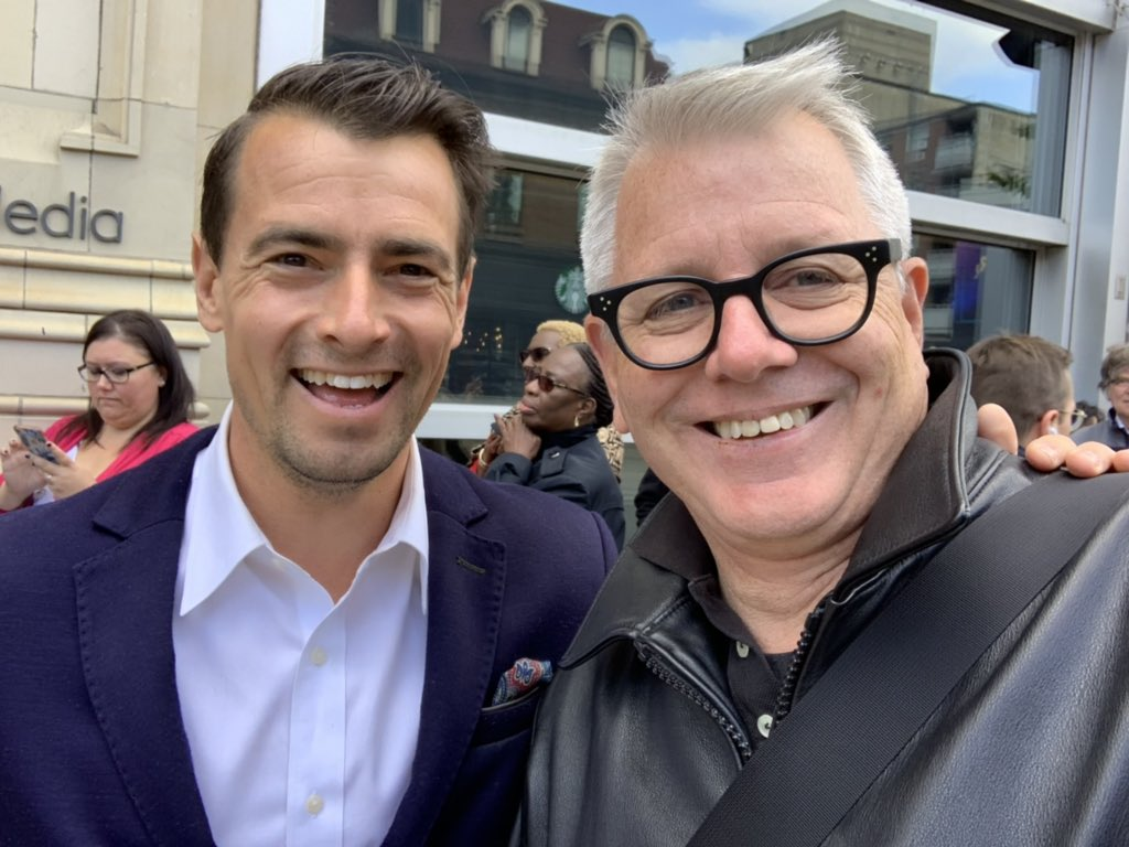 Spadina-Fort York  had two MPs called Adam V in the riding today! Great chat with my new colleague on the work that lies ahead. @vankayak #SpaFY  @liberal_party<br>http://pic.twitter.com/oSmg2gLm3a