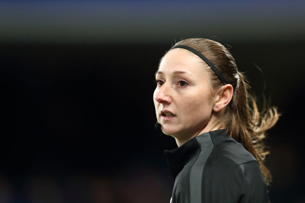 History maker.  Sian Massey-Ellis has become the first Englishwoman to officiate in a men's European fixture.  👉 https://t.co/JnSuEmDjmy https://t.co/F89PV1xvC0