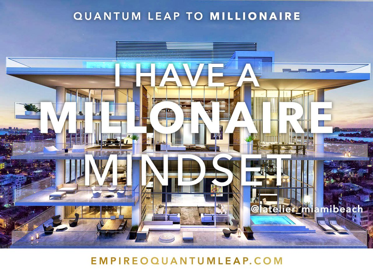 """I have a MILLIONAIRE mindset. 🎚️🎑🧠📡🗺️🚄💵  """"QUANTUM LEAP TO MILLIONAIRE""""💰💎 ▶️ I want to know more about the program https://t.co/zfXarp0sbB https://t.co/XwMcxlYICR"""