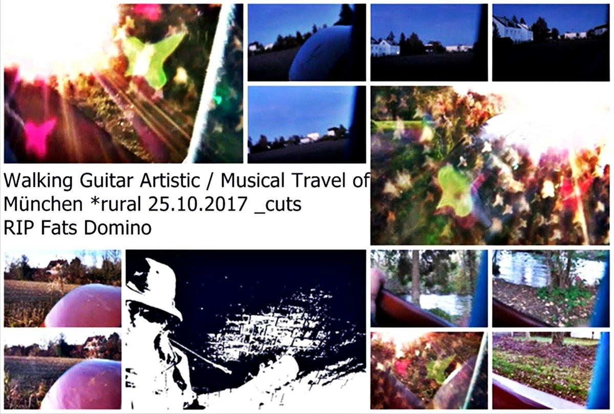 -   WalkingGuitar #Artistic / #Musical #Travel of  #München *rural 25.10.2017 _cuts  ..ja schon am heutigen #25ottobre & vor 4 jahren in #Munich & #rural in #nature sehr schöner #tour /  making #music #ontheroad #LIVE #walking #guitar #playing & #singing  -