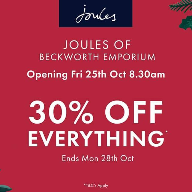 Today Joules Opens! 30 % OFF EVERYTHING! PLUS A FREE Special Gift with a purchase for the first 200 customers. We open at 8.30! Tag a friend and come along! #Northampton #offers #joules #openingday #Retail #moneyoff #freegift #launchday