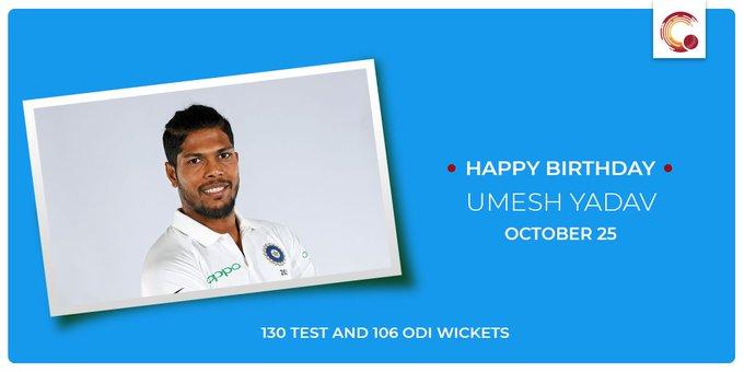 Happy Birthday to Umesh Yadav!