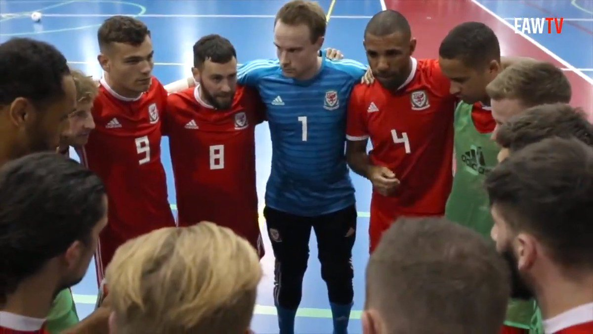 🇦🇹v🏴󠁧󠁢󠁷󠁬󠁳󠁿 #Cymru Mens National Futsal team take on Austria in an International Friendly today, KO: 16.30 📺 Yn fyw | Watch Live: bit.ly/340kkqn 💪 Pob lwc bechgyn! #TogetherStronger