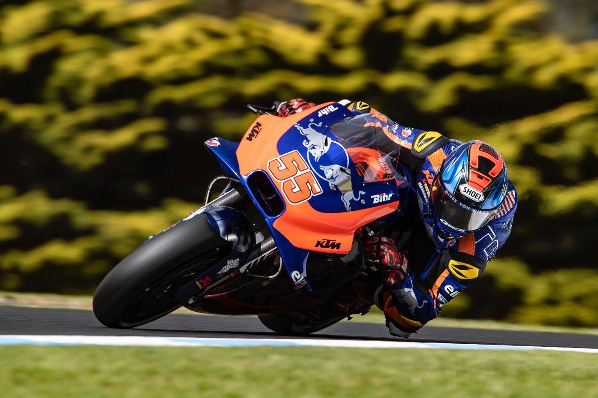 Alternating day for Red Bull KTM Tech3 duo in Australia 👉🏻 bit.ly/2HdNMkv #KTM #Tech3 #MotoGP #HS55 #MO88 @MotoGP #AustralianGP