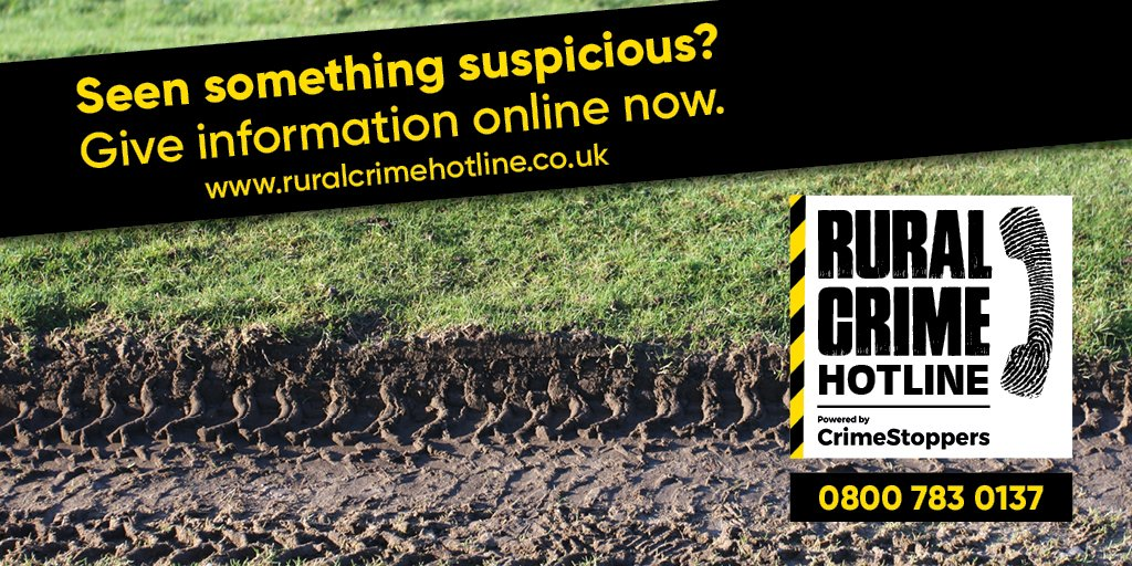 #RuralCrime is not a game. Take action to safeguard your local community. Give information 100% anonymously to our rural crime hotline powered by @CrimestoppersUK. Find out more ow.ly/qxtR30pLvQY