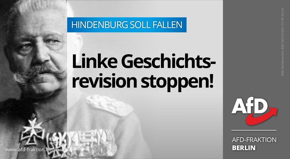 ∙1932 warb die #SPD mit den Vorgängerparteien von CDU & FDP für #Hindenburg als ❝verfassungstreuen Reichspräsidenten❞(sic!) gegen Hitler. ∙2019 will sie davon nichts mehr wissen und ihm die #Ehrenbürgerwürde aberkennen. #Geschichtsrevision stoppen! morgenpost.de/berlin/article…