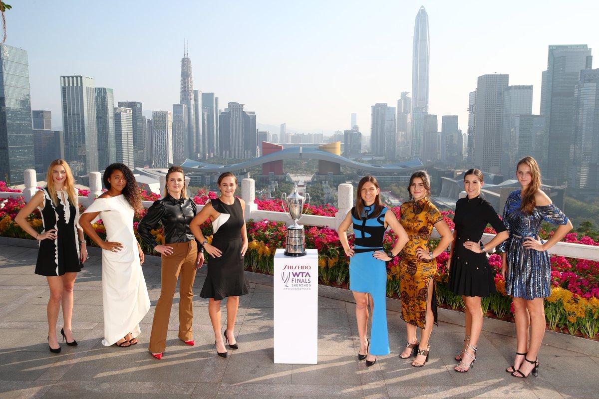 Свитолина и другие участницы WTA Finals на гала-вечере турнира в Шэньчжэне