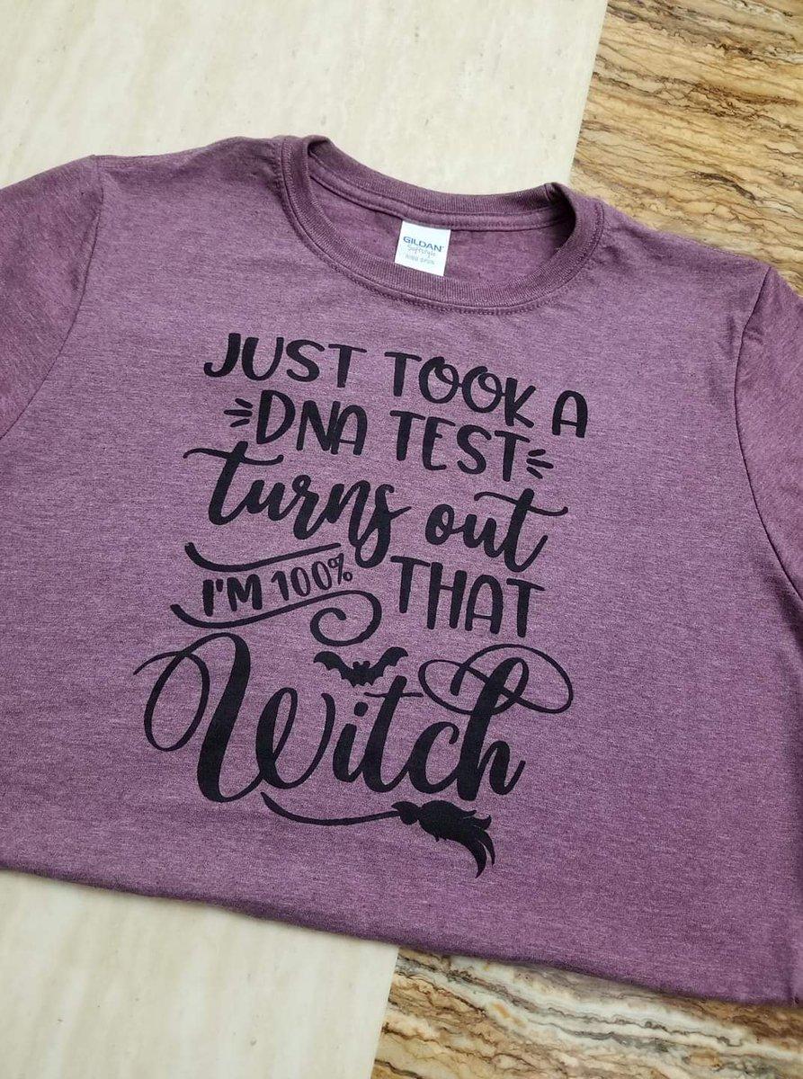 Just took a DNA Test turns out I'm 100% that witch.  #tookadnatest #lizzoshirt #halloweenshirt #100percentthatwitch #custommadeshirt #chalkinkshirt #chalking #crafting #halloweenwitchshirt #halloweenthsirts #custommadeshirts