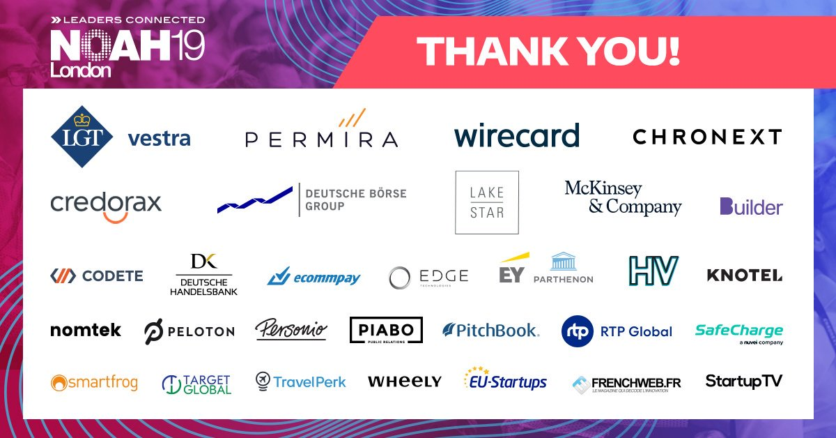 Less than one week left until #NOAHLondon19! A huge thank you to our partners for the growth and support they have brought us 💚 https://t.co/OIRfchhmCY