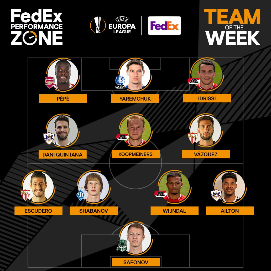 This week's FedEx Performance Zone results are in!   Who was your stand out  #UEL player?   https://www.uefa.com/uefaeuropaleague/performancezone/