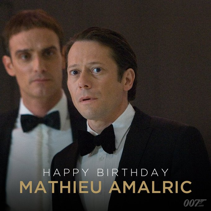 Happy Birthday to Mathieu Amalric. Mathieu played evil environmentalist Dominic Greene in QUANTUM OF SOLACE (2008)