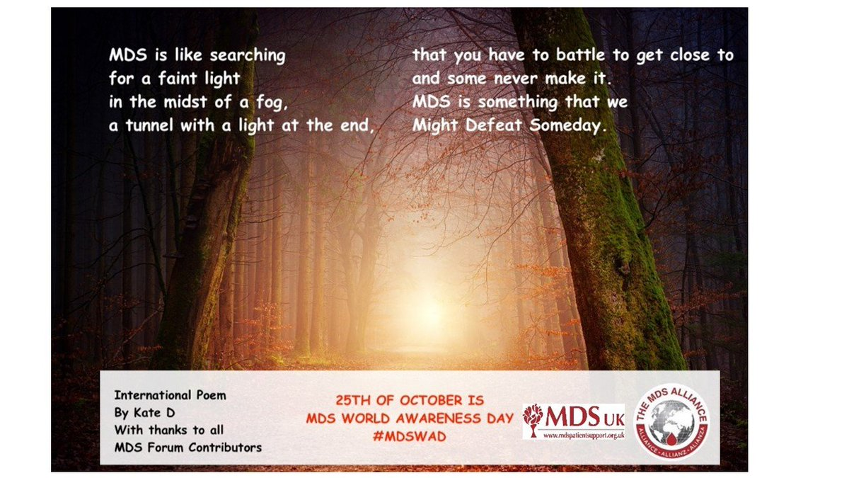 What Is Mds >> Media Tweets By Mdsuk Patientsupport Mds Uk Twitter
