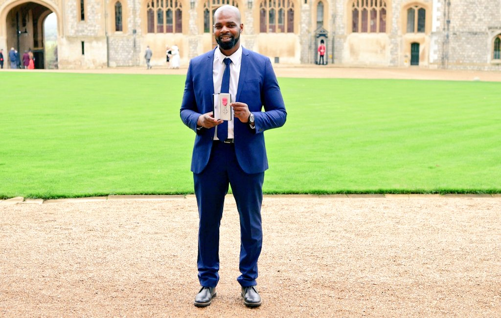 Great time at Windsor Castle receiving my MBE for services to Education, Technology & Diversity In UK Tech. Got the opportunity to meet the Queen and share the work Ive done in education and the tech sector.