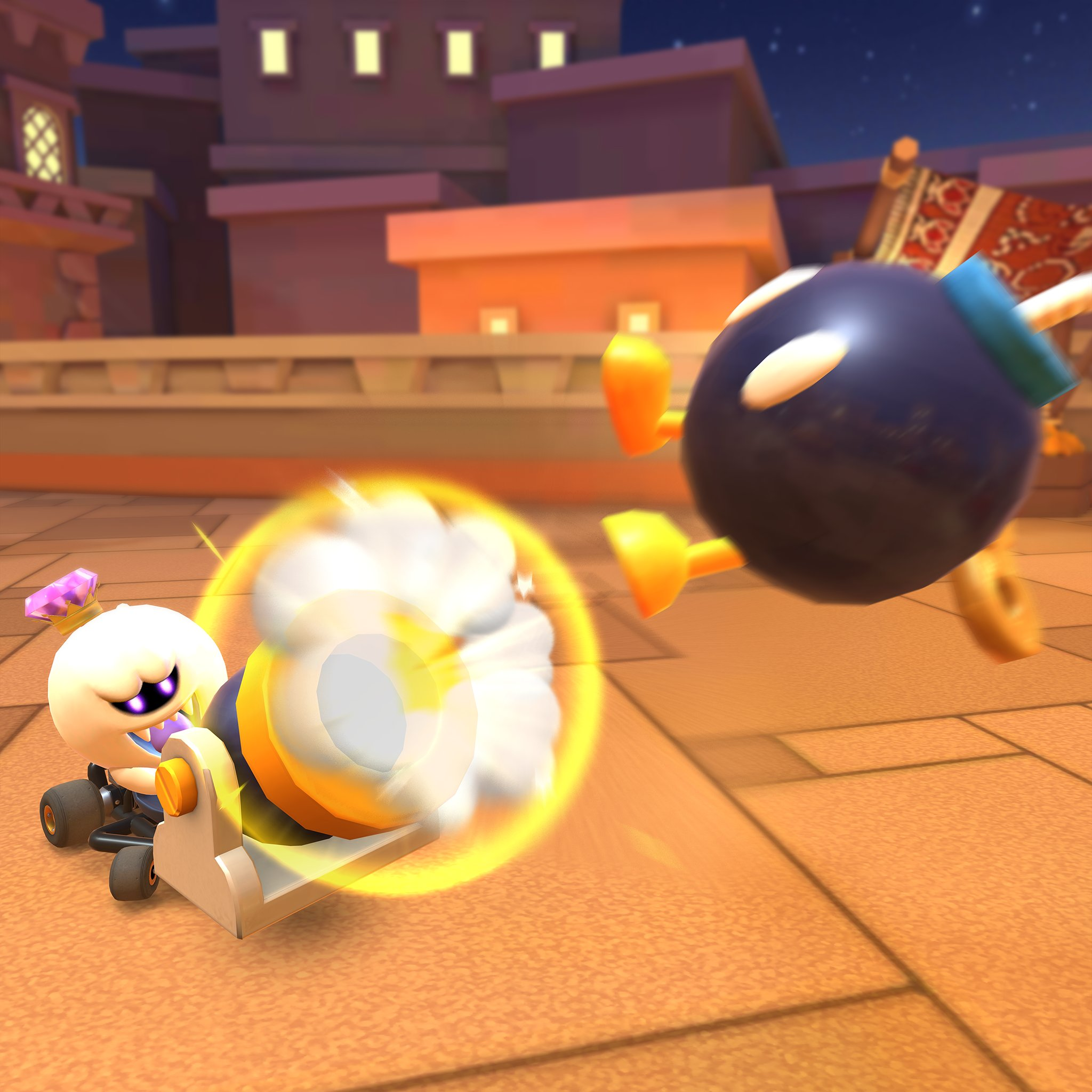 Mario Kart Tour On Twitter Clever Use Of The Bob Omb Cannon Can Leave Your Opponents Scrambling Off Track As You Cruise On By Mariokarttour