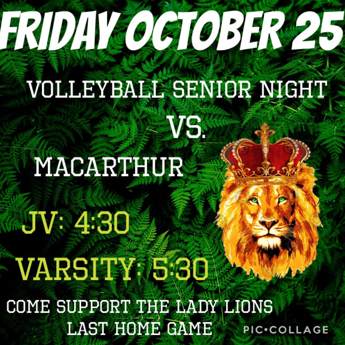 Let's all show love and support for our volleyball girls tonight and give the senior spirit for senior night tonight 💚🏐 #classof2020 #wearespring #mbybob https://t.co/Swi0rXFhNk