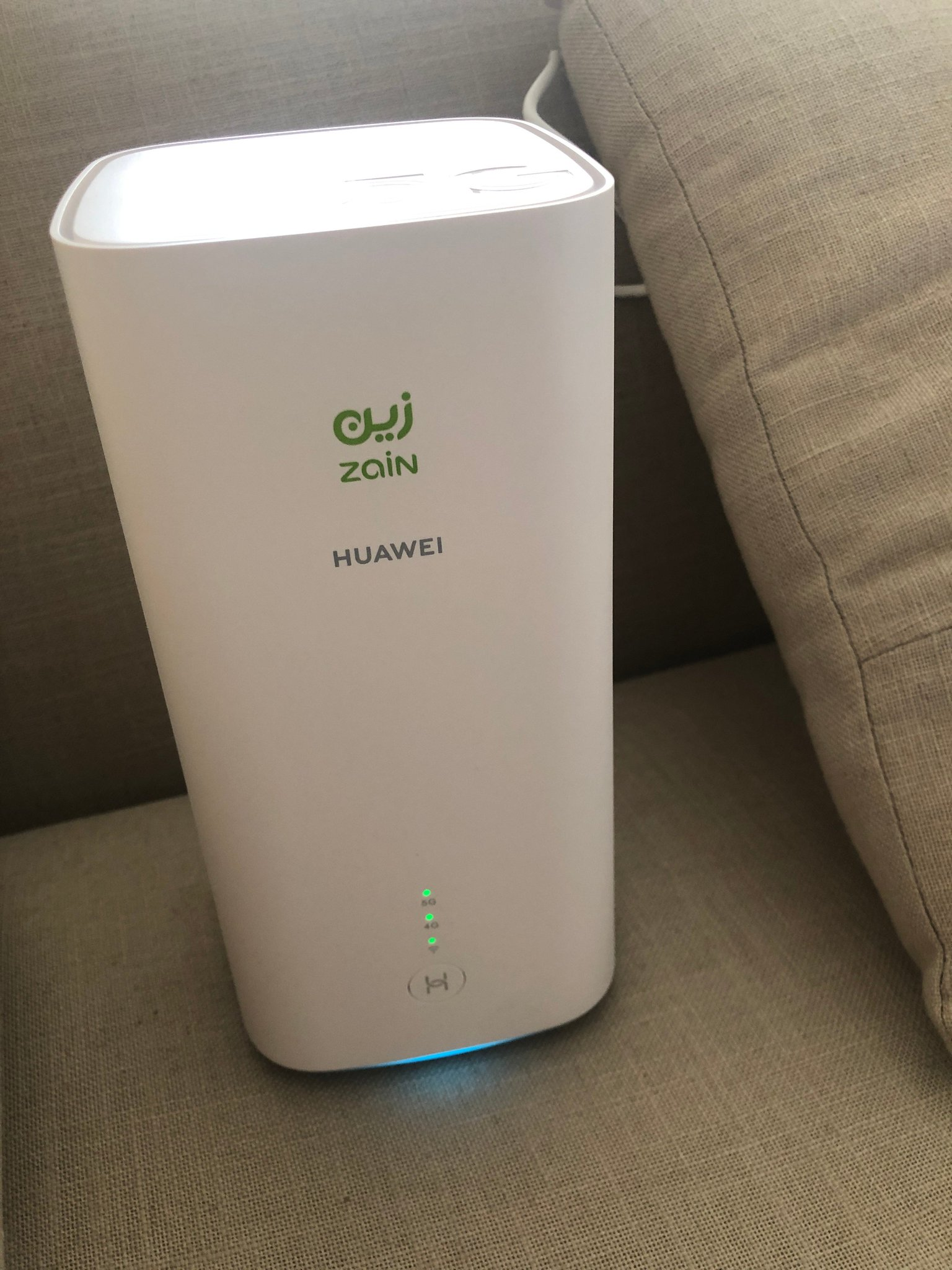 """Andrianna Dafnis on Twitter: """"I just bought Zain's new 5G tower and I'm  obsessed with reading about this relatively new technology. But I still  haven't hit above 110 mbps. :-( The pic"""
