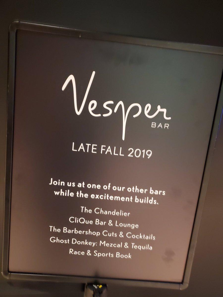 RT @VitalVegas: Vesper renovation under way at Cosmo. https://t.co/ADnJPlOLZv