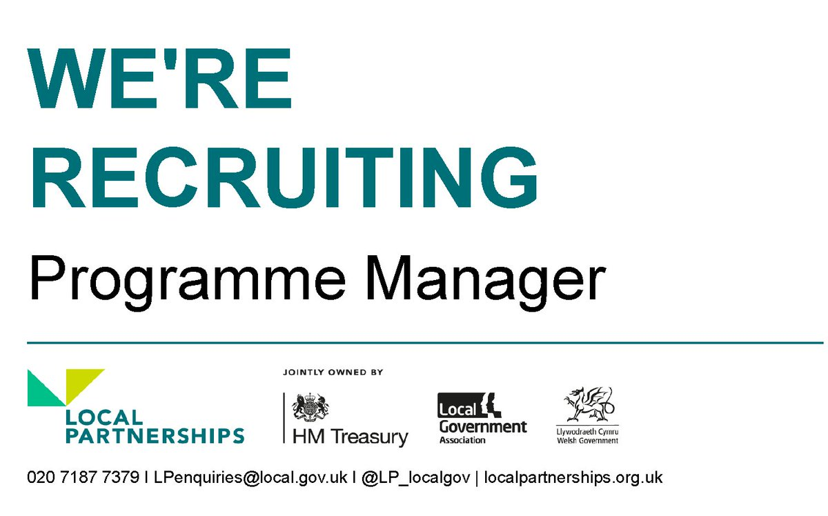 We're recruiting!  We're looking for a Programme Manager to join our London Office  More information: https://t.co/LckKRh2pf6