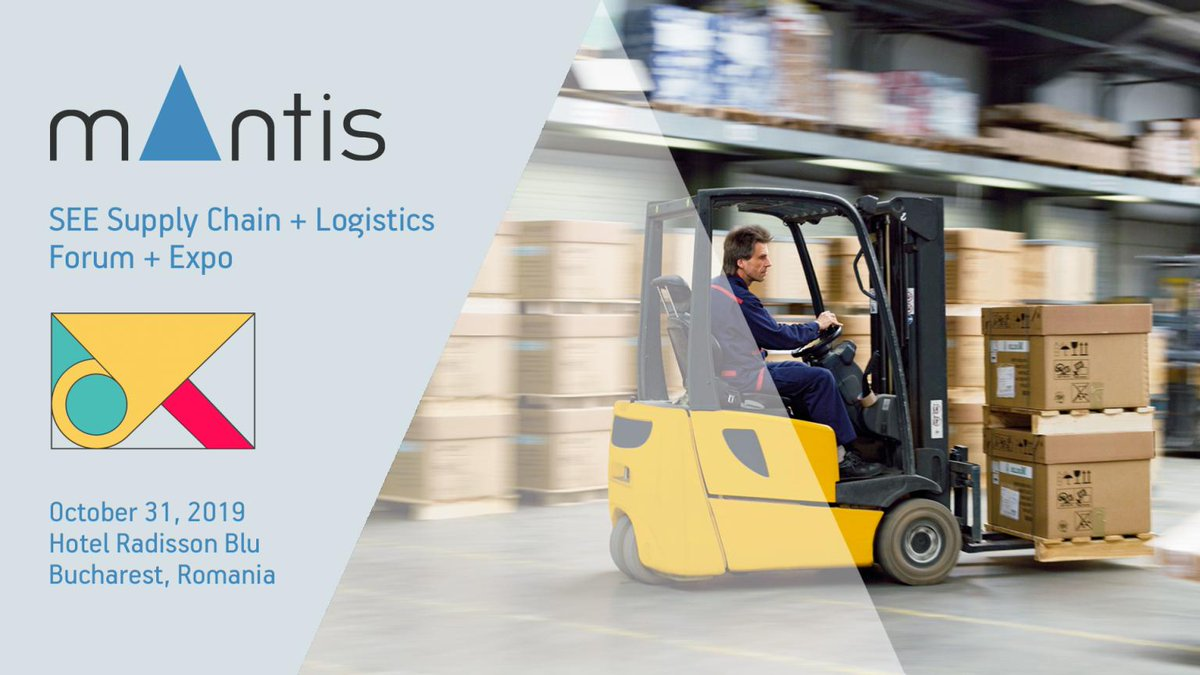 Visit @MantisWMS  #Romania booth at SEE Supply Chain & Logistics Forum & Expo 2019 on 31/10/2019, Hotel #radissonblu in Bucarest. #wms #logisticsvisionsuite https://t.co/iXvfGDFrwb